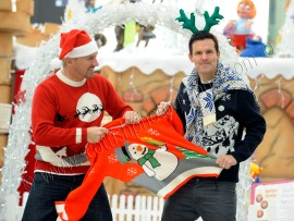 Colin and Justin / Christmas jumpers