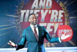 © Sandy young Photography 07970 268944 TV Game Show - And They're Off, being filmed at BBC Scotland, Glasgow. PICTURED presenter Ore Oduba. E: sandyyoungphotography@gmail.com W: www.scottishphotographer.com